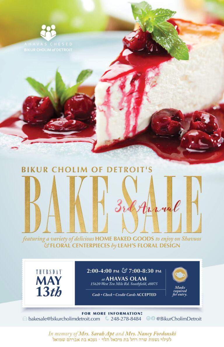 Bikur Cholim Bake Sale Postcard 2021 2